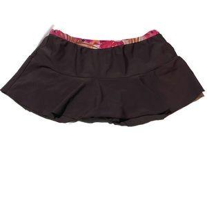 St. John's Bay Tankini Swim Skirt Bottom Brown 8